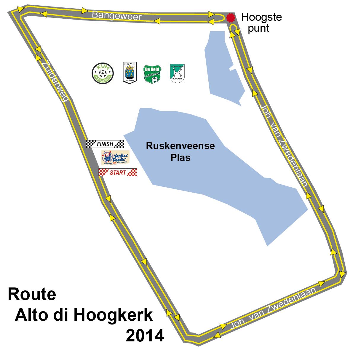 Alto di Hoogkerk kaartje tijdrit